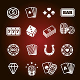 Simple set of gambling related vector icons Stock Photo