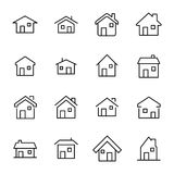 Simple set of home related outline icons. Elements for mobile concept and web apps. Thin line vector icons for website design and development, app development Royalty Free Stock Photo