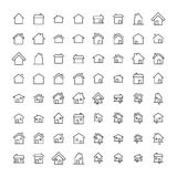 Simple set of home related outline icons. Elements for mobile concept and web apps. Thin line vector icons for website design and development, app development Royalty Free Stock Photos