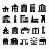 Simple set icon building vector illustration