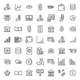 Simple set of investments related outline icons. Elements for mobile concept and web apps. Thin line vector icons for website design and development, app Royalty Free Stock Photo