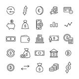 Simple set of investments related outline icons. Elements for mobile concept and web apps. Thin line vector icons for website design and development, app Royalty Free Stock Photography