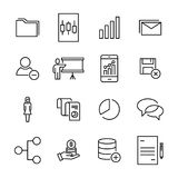 Simple set of leadership related outline icons. Royalty Free Stock Image