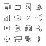 Simple set of management related outline icons. Royalty Free Stock Images
