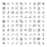 Simple set of management related outline icons. royalty free illustration