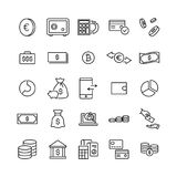 Simple set of money related outline icons. Elements for mobile concept and web apps. Thin line vector icons for website design and development, app development Stock Image
