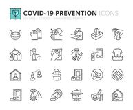 Free Simple Set Of Outline Icons About Coronavirus Prevention Royalty Free Stock Image - 178819566