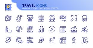 Free Simple Set Of Outline Icons About Travel Royalty Free Stock Photo - 185509305