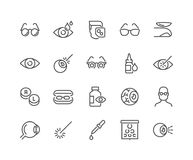 Line Optometry Icons royalty free illustration