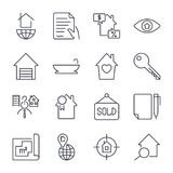 Simple Set of Real Estate Related Vector Line Icons. Stock Photos
