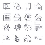 Simple Set of Real Estate Related Vector Line Icons. Royalty Free Stock Photo