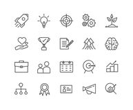 Simple Set of Start up vector thin line icons. Editable Stroke linear symbols Stock Images