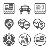 Simple Set of Taxi Related Vector Icons Stock Images
