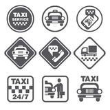 Simple Set of Taxi Related Vector Icons Stock Photo