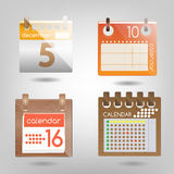 Simple sets of calendars. For design Stock Images