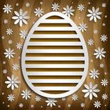 Simple shape of Easter egg on brown background stock illustration