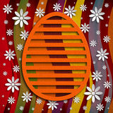 Simple shape of Easter egg on colored background Stock Photo