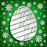 Simple shape of Easter egg on green background Royalty Free Stock Photography