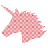 Simple Shape, silhouette of the magical unicorn in Nordic style cross stitch and inspired by Scandinavian Christmas patterns vector illustration