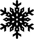 Simple shape stylish black snowflake for your design. Vector geo Royalty Free Stock Images