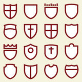 Simple shields (vector). Set of simple shields Stock Photography