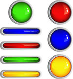 Simple Shiny Buttons. Isolated on white, vector, eps 8 format Royalty Free Stock Image