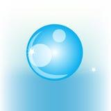Simple shiny water drop Stock Photos