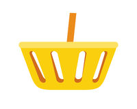 Simple Shopping Basket Icon Illustration. Royalty Free Stock Images
