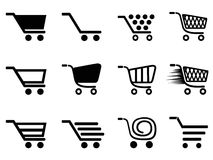 Simple shopping cart icons set Stock Photography