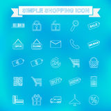 Simple shopping icon with unfocused background Stock Photo