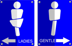 Simple sign of toilet symbols Stock Image