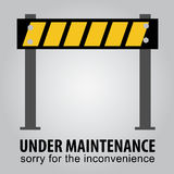 Simple Sign, Under Maintenance Stock Photos