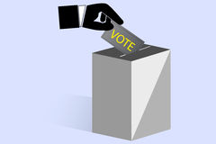 Simple sign of vote box Stock Photos