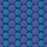 Simple Silhouette Flower Geomeric Pattern Stock Image