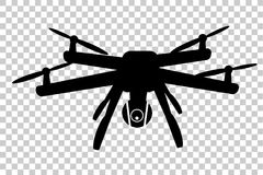 Free Simple Silhouette Of Drone, At Transparent Effect Background Stock Images - 97715764