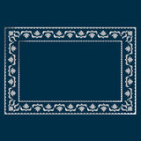 Simple silver frame Stock Photography
