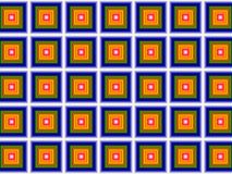 Simple simon. Simple colorful fractal square pattern Royalty Free Stock Photos