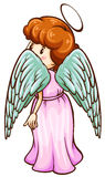 A simple sketch of an angel Royalty Free Stock Photo