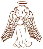 A simple sketch of an angel Stock Images