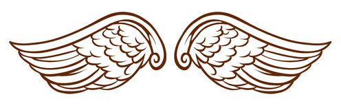 A simple sketch of an angel's wings Stock Photos