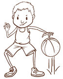 A simple sketch of a basketball player Royalty Free Stock Photography