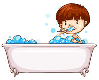 A simple sketch of a boy bathing Royalty Free Stock Photography