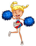 A simple sketch of a cheerdancer. Illustration of a simple sketch of a cheerdancer on a white background Royalty Free Stock Images