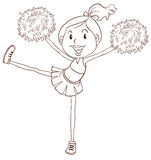 A simple sketch of a cheerleader Stock Images