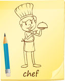 A simple sketch of a chef Stock Images