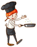 A simple sketch of a chef Royalty Free Stock Images