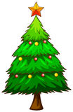 A simple sketch of a christmas tree Royalty Free Stock Photo