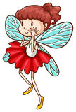 A simple sketch of a fairy Royalty Free Stock Photography