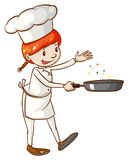 A simple sketch of a female chef Stock Images