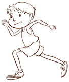 A simple sketch of a man running Stock Photo